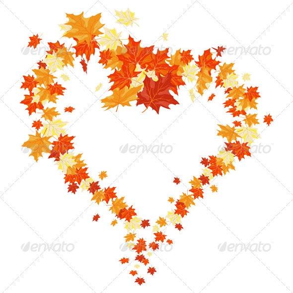 Autumn Heart - Seasons Nature