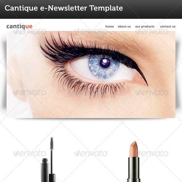Cantique E Newsletter Template