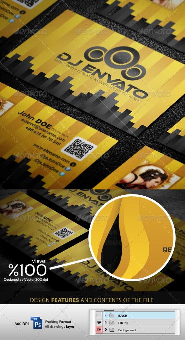 Ultra DJ - Business Cardvisid - Creative Business Cards