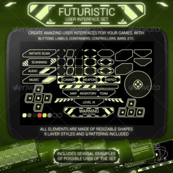 Futuristic User Interface Set