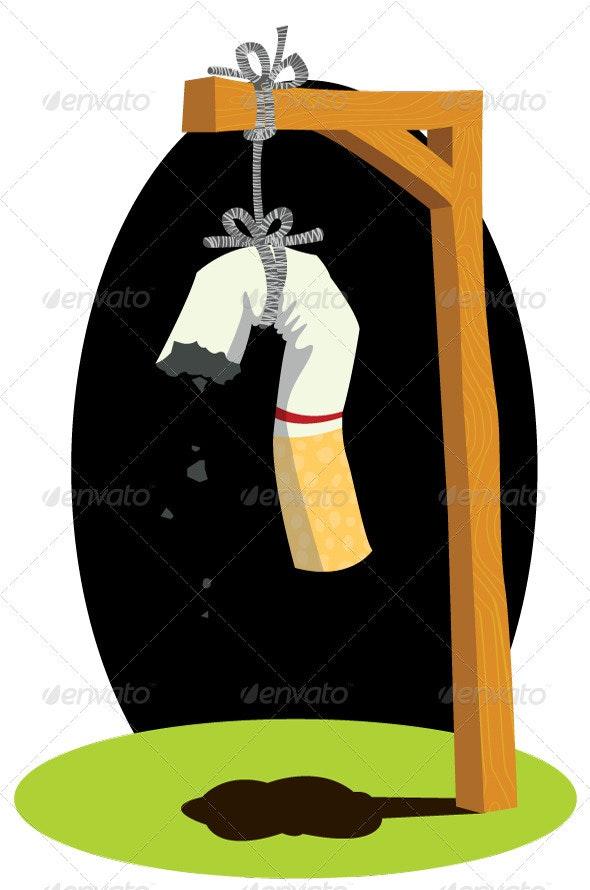 Hang Cigarette - Health/Medicine Conceptual