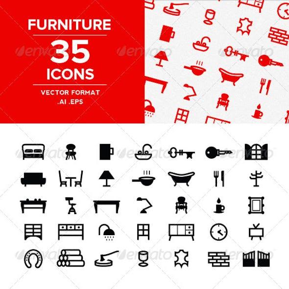 Furnitures Icons set