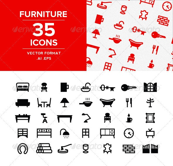 Furnitures Icons set - Miscellaneous Icons