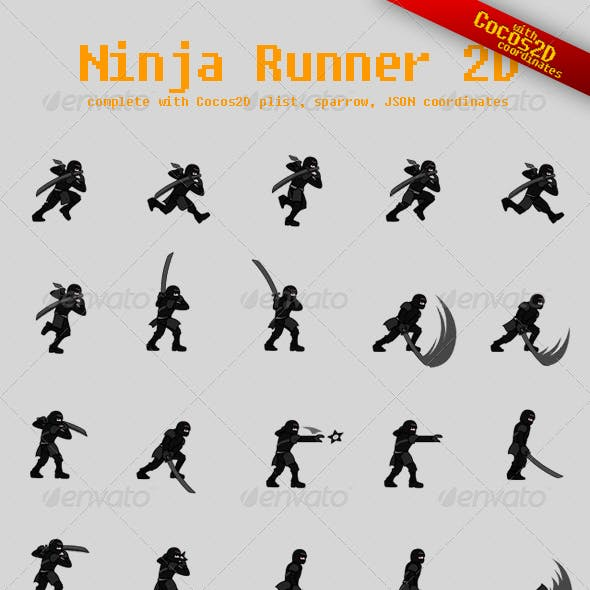 Ninja Runner Sprite Sheet with Cocos2D Coordinates