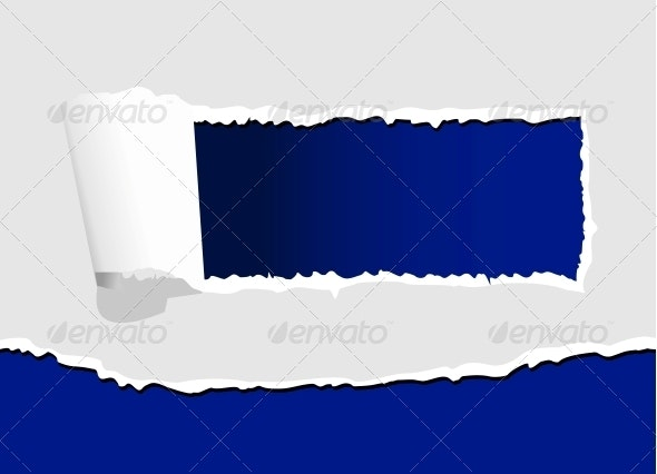 Torn Paper with Hole - Backgrounds Decorative