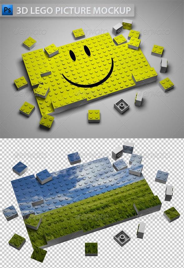 3D Lego Picture - Miscellaneous 3D Renders