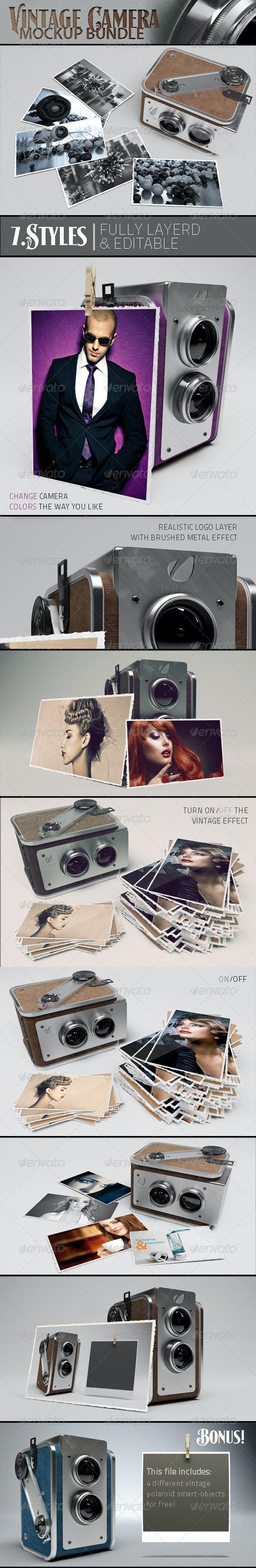 Vintage Camera Mockup - Miscellaneous Product Mock-Ups