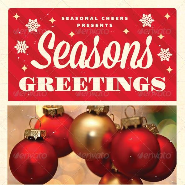 Greetings - Christmas Flyer Template