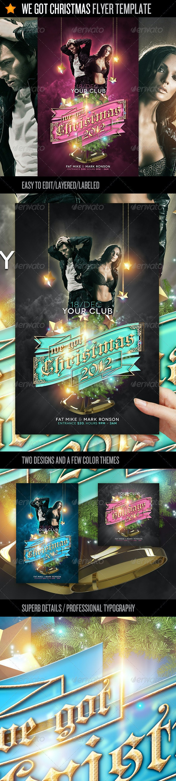 We Got Christmas - Flyer Template - Events Flyers