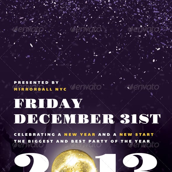 Mirrorball - New Years Eve Flyer Template