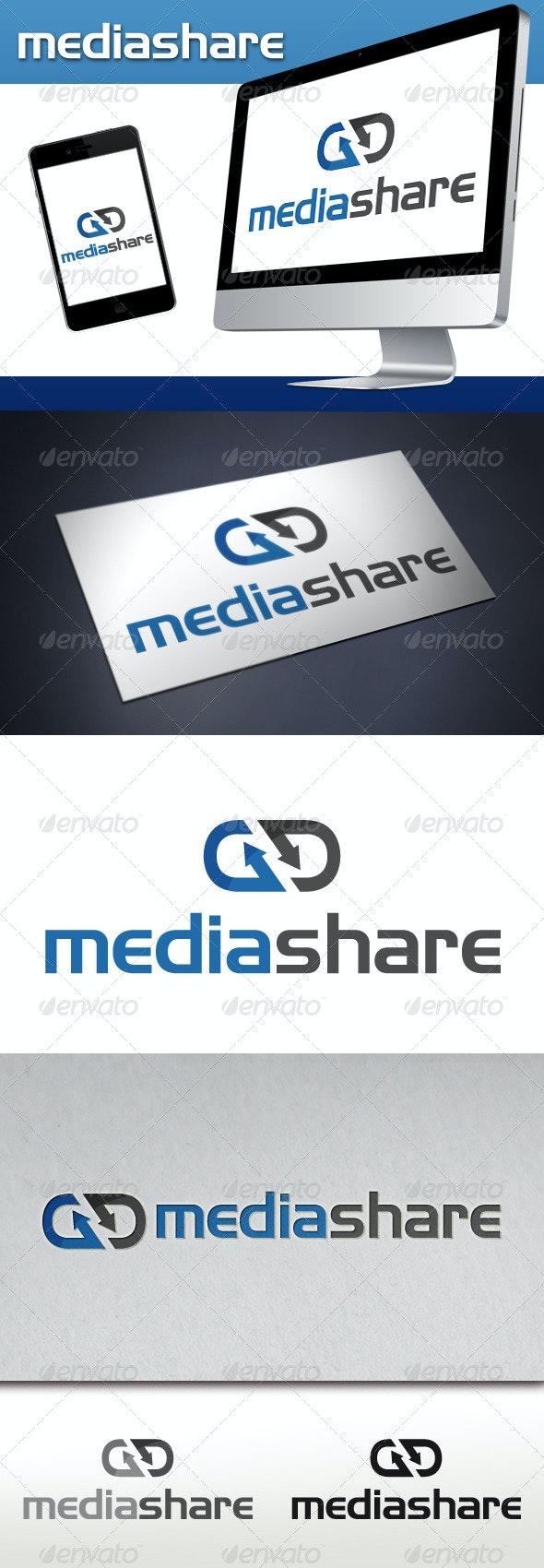Media Share Hosting Logo - Vector Abstract