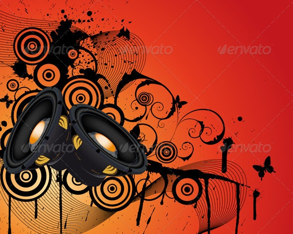 Musical Background  - Backgrounds Decorative