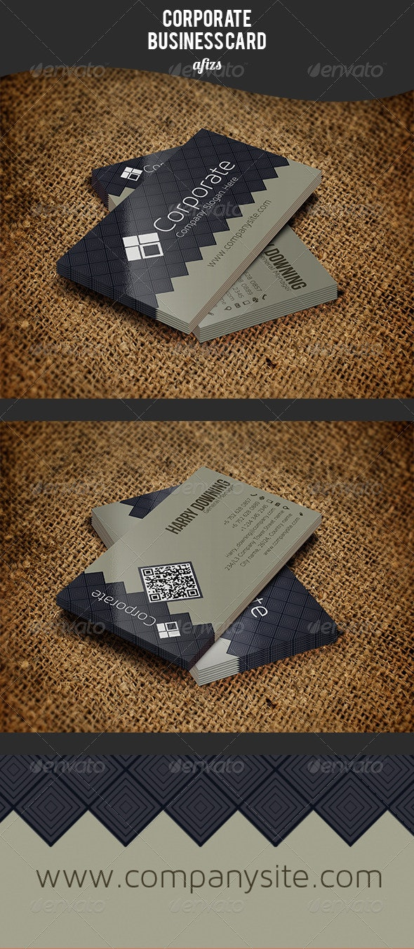 ZigZag Corporate Business Card - Corporate Business Cards