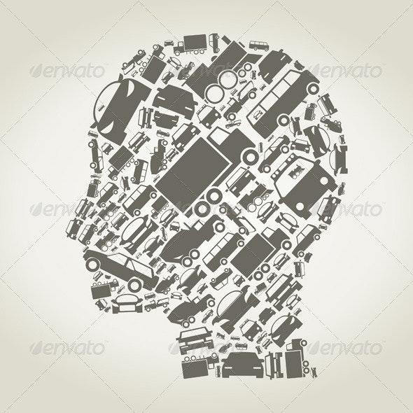 Car Head - People Characters