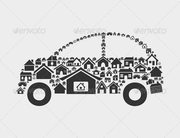 Car of Houses - Miscellaneous Conceptual
