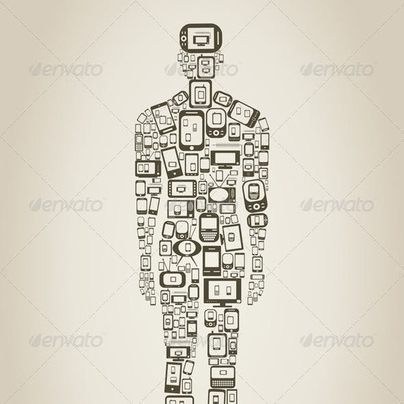 Person made of Phones