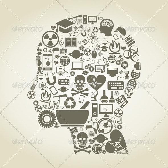 Science Head - Health/Medicine Conceptual
