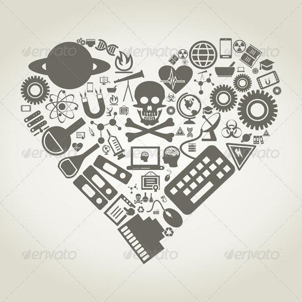 Science Heart - Health/Medicine Conceptual