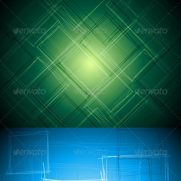 Abstract Tech Vector Drawing