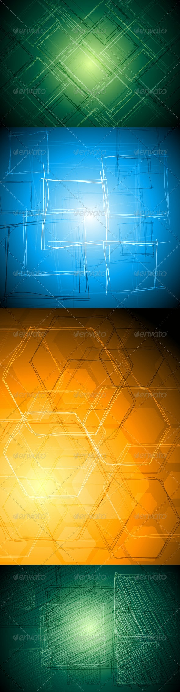 Abstract Tech Vector Drawing - Backgrounds Decorative