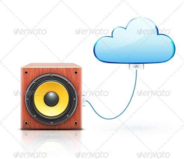 Cloud Storage Concept - Technology Conceptual