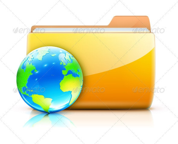 Global Sharing Concept  - Technology Conceptual