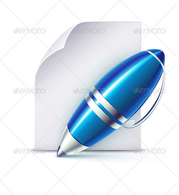 Elegant Ballpoint Pen  - Man-made Objects Objects