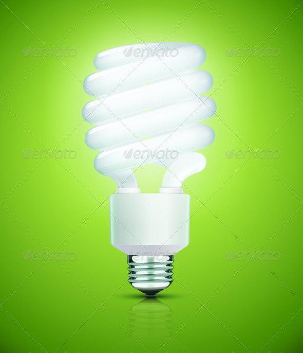 Fluorescent Lightbulb - Man-made Objects Objects
