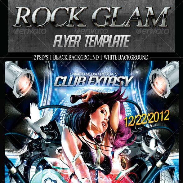 Rock Glam Flyer Template
