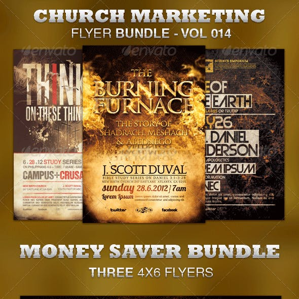 Church Marketing Flyer Bundle-Vol 014