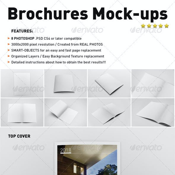 Photorealistic Brochure Mock-ups