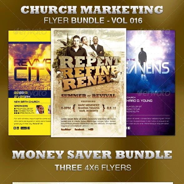Church Marketing Flyer Bundle-Vol 016