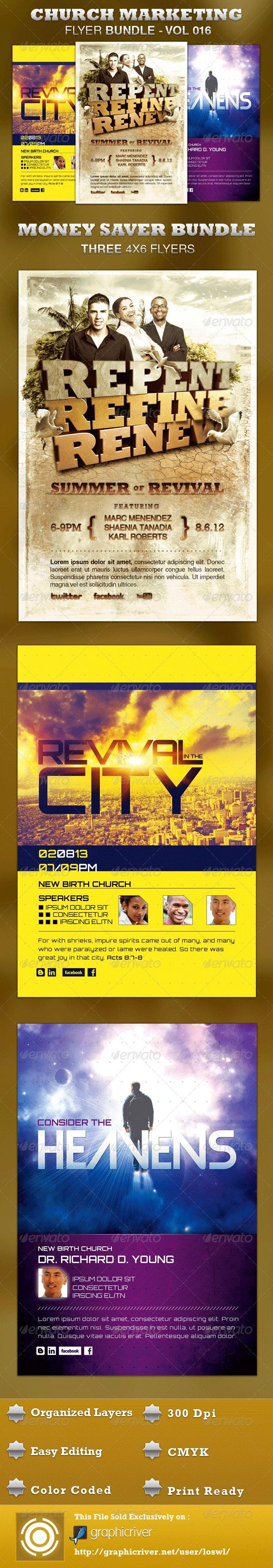 Church Marketing Flyer Bundle-Vol 016 - Church Flyers