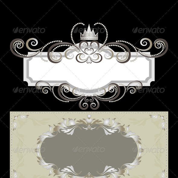 Elegant Three Frames in Old Classic Style