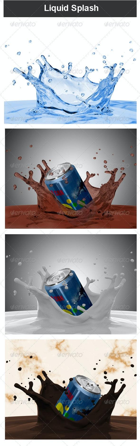 Liquid Splash - Miscellaneous 3D Renders