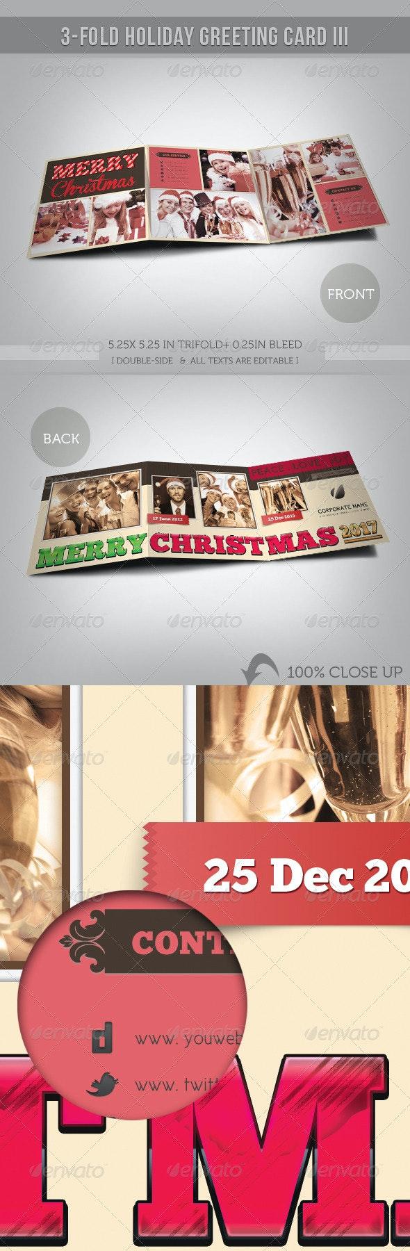 3-Fold Holiday Greeting Card III - Bold Wish - Holiday Greeting Cards