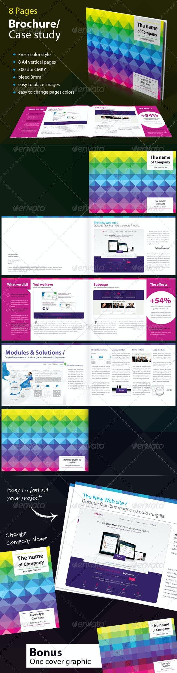 Brochure / Case Study - Fresh Colors - Brochures Print Templates