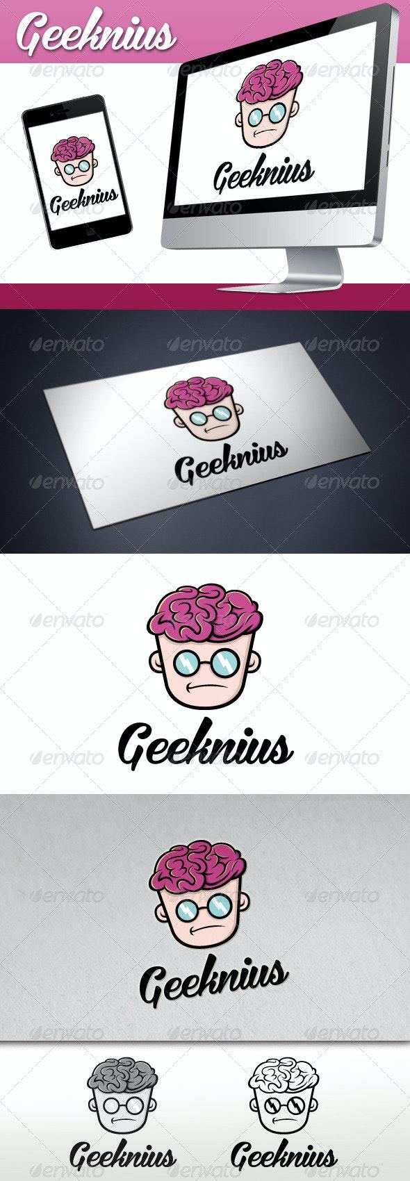 Geek Genius Logo - Humans Logo Templates