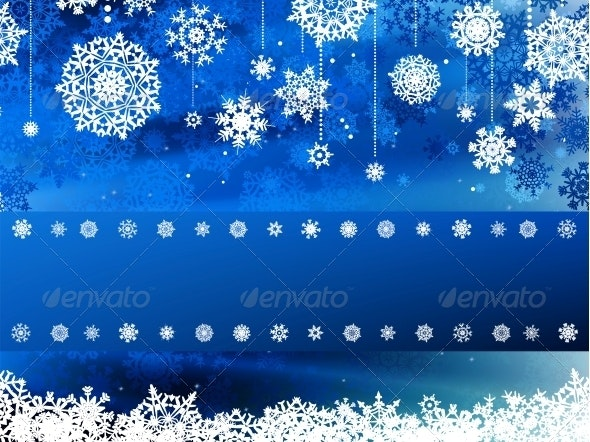 Blue Wave Christmas Background - Christmas Seasons/Holidays
