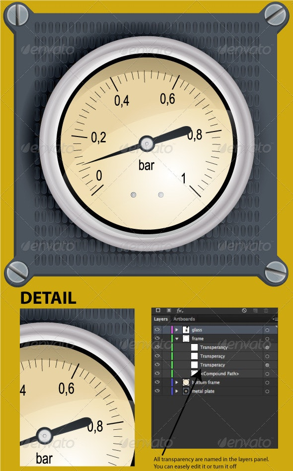 Analog Dashboard - Objects Vectors