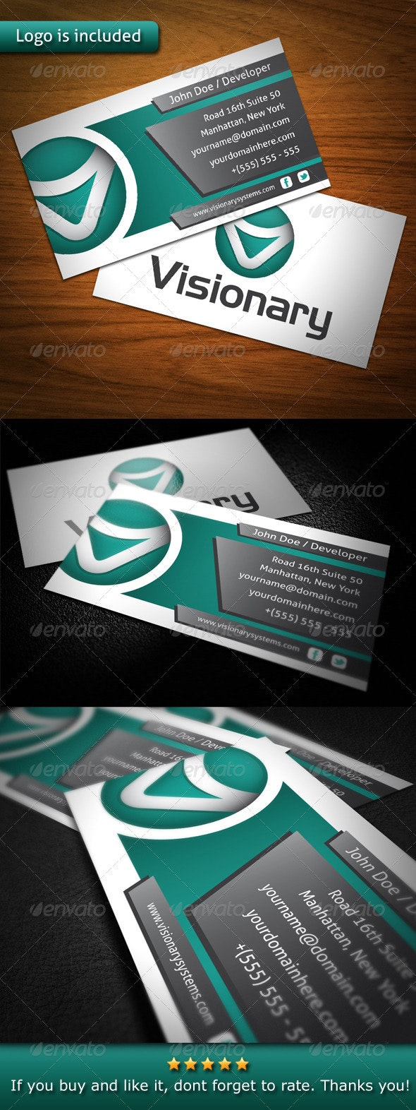 Visionary Creative Business Card - Creative Business Cards
