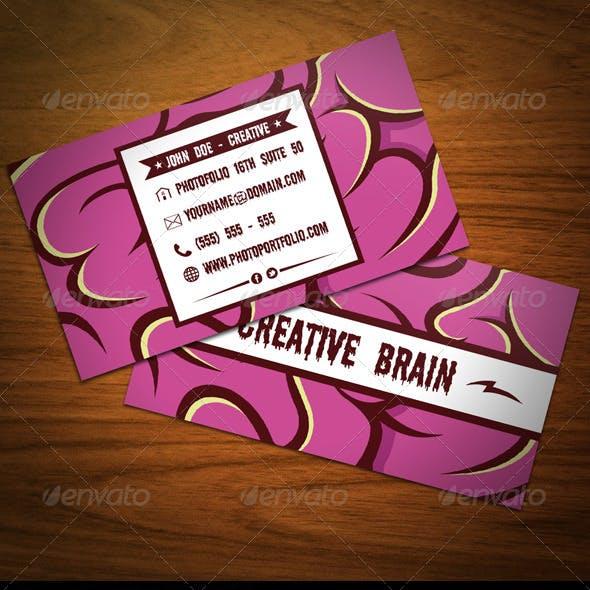 Creative Brain Business Card