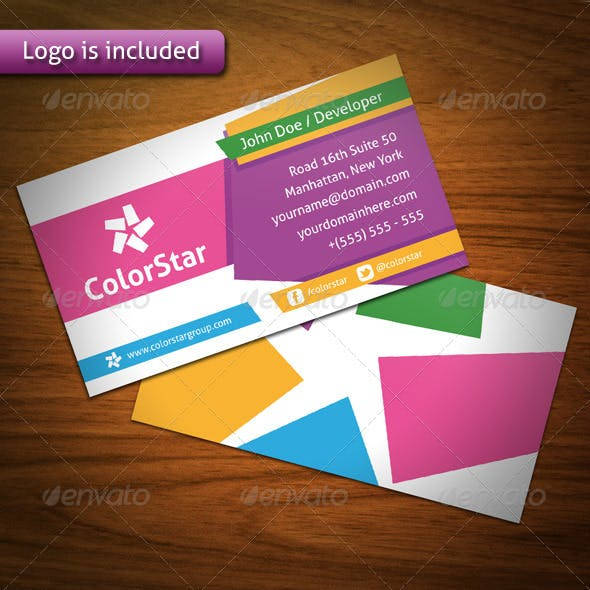 Color Star Creative Business Card