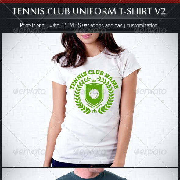 Tennis Club Uniform T-Shirt Template V2