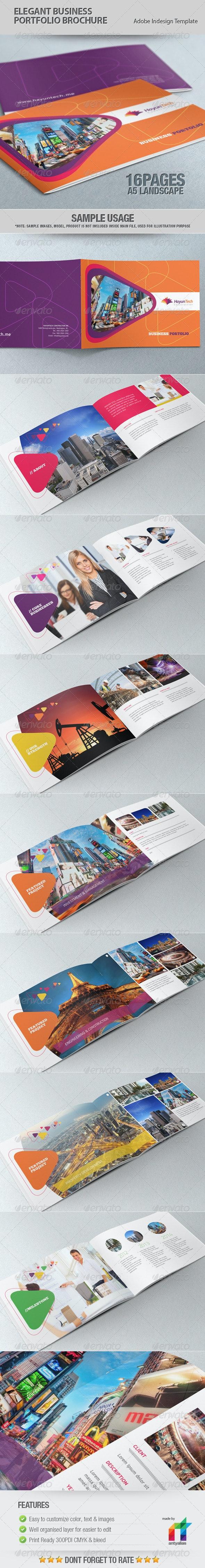 Elegant Business Portfolio Brochure - Portfolio Brochures