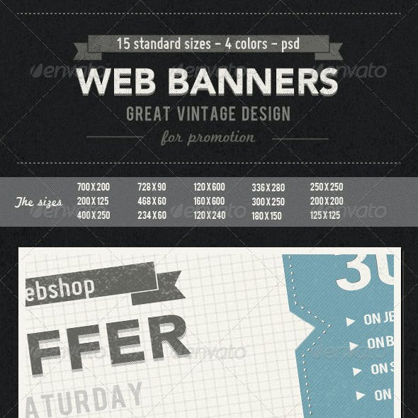Vintage Web Banners