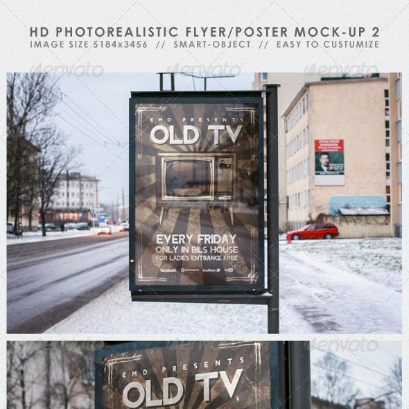 HD Realistic Flyer/Poster Mock-Up 2