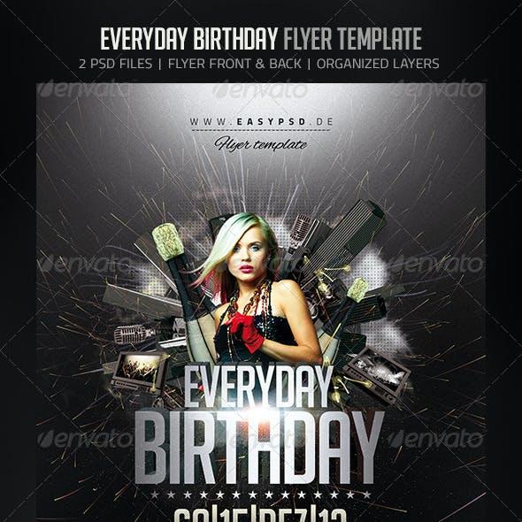 Everyday Birthday Flyer
