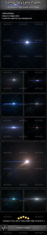 Conspiracy Lens Flares - Decorative Graphics