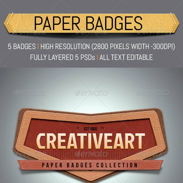 Paper Textured Badges